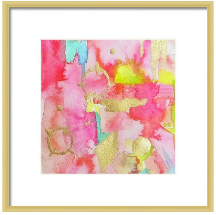 Pink Abstract Art Prints for Gallery Wall-Set of 6