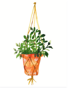 Hanging Out Terra Cotta Planter Print