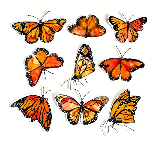Monarch Kaleidoscope Butterfly Print