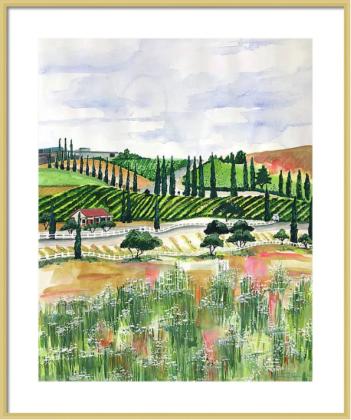 Wine Country Landscape Print