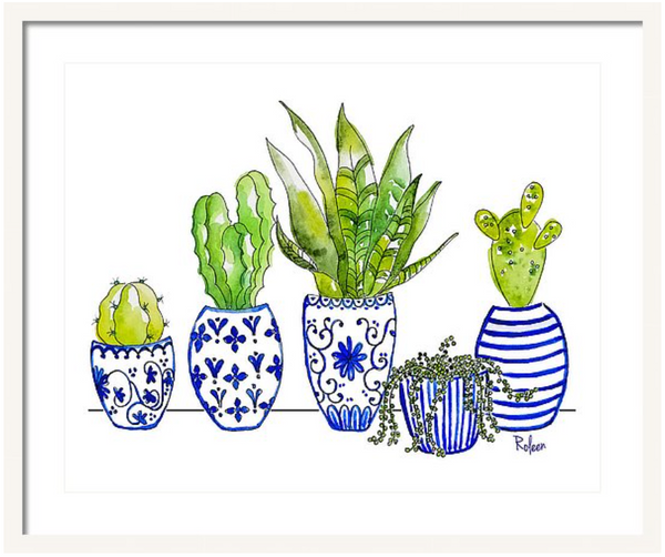Chinoiserie Collected Cactus Print