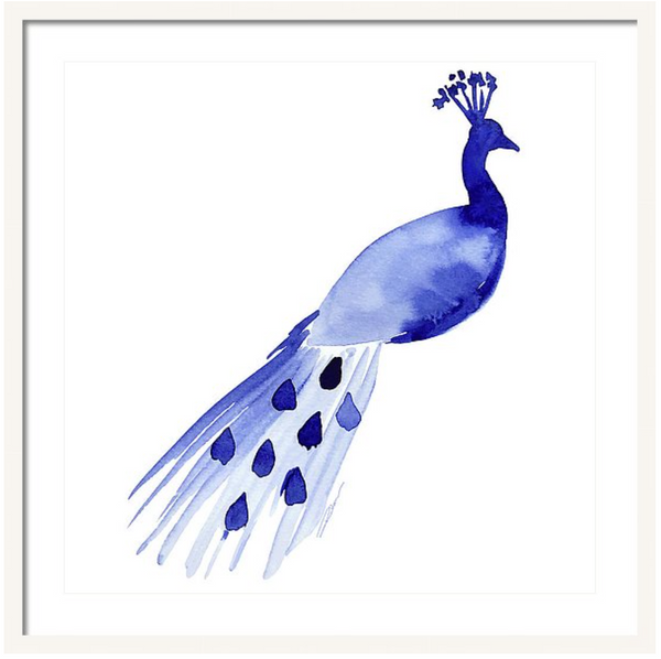 Perched Peacock Print