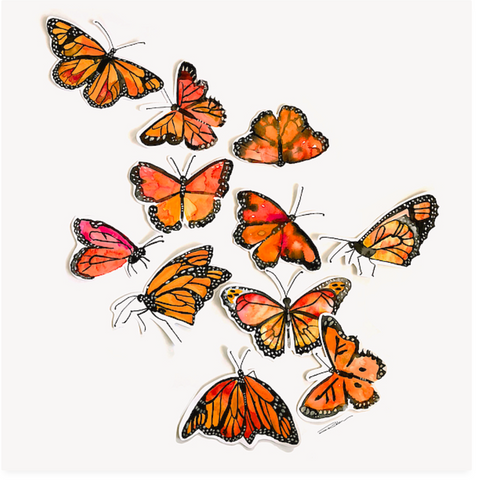 Monarch Butterflies Flutter Print
