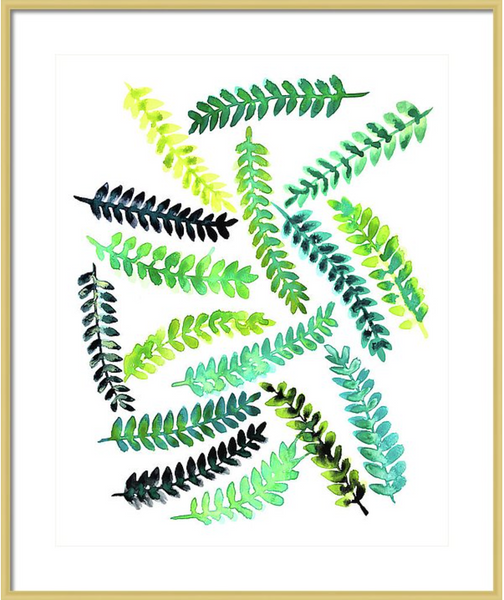 Woodland Ferns Print