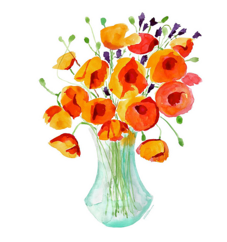 Freshly Picked Poppies Print