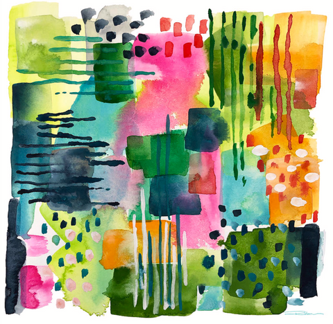 Jungle Gardens Abstract Print
