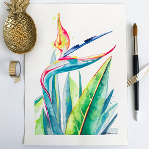 Bird of Paradise Original Art