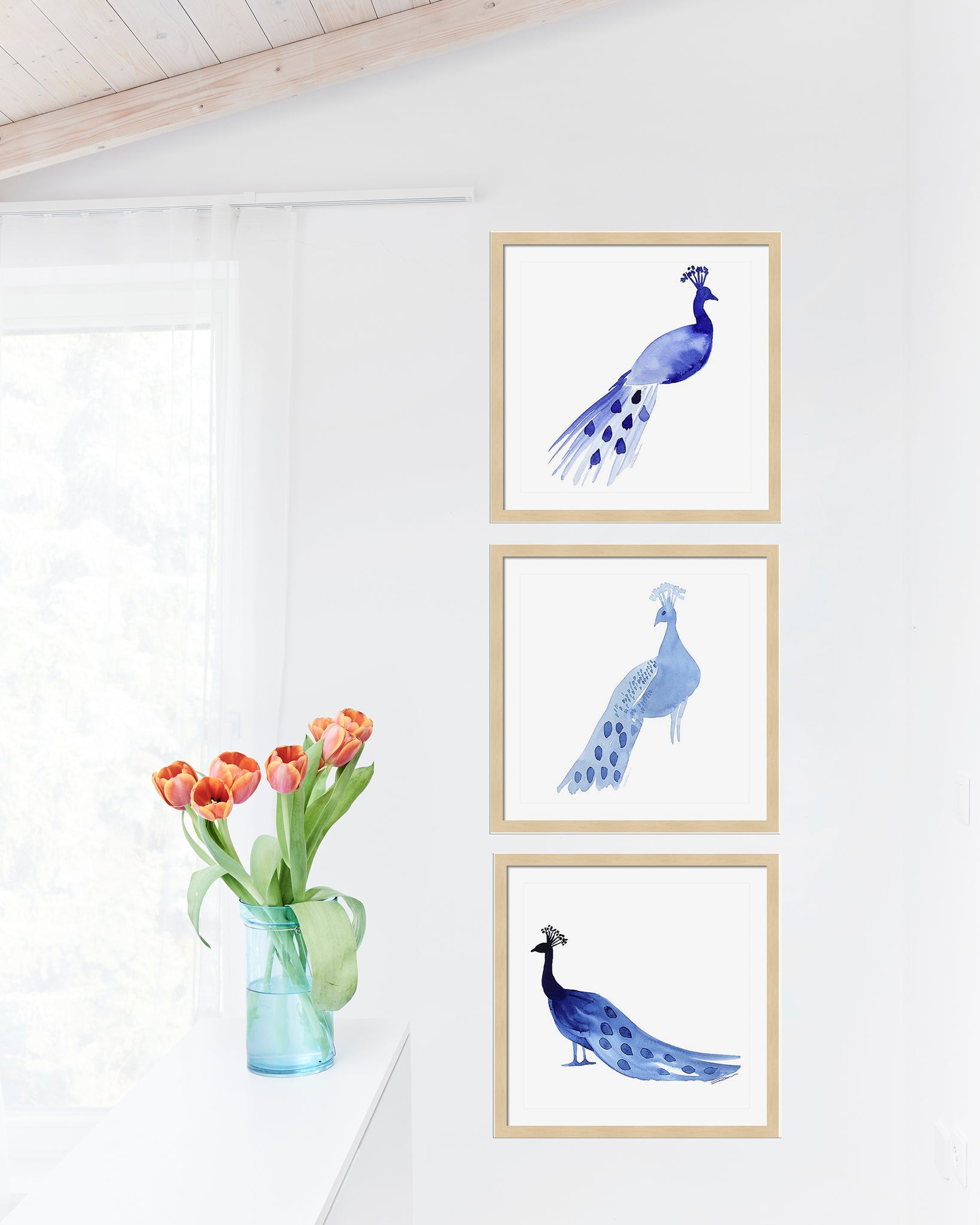 Peacock Gallery Wall Set