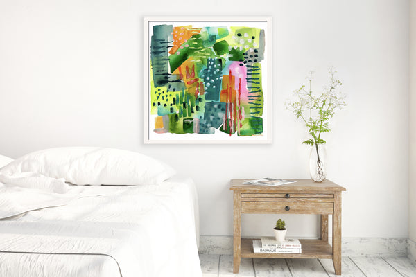 Jungle Vines Abstract Print