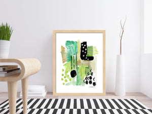Garden Fern Abstract Art Print