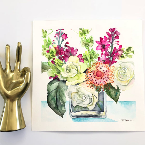 Studio Flowers Original Art
