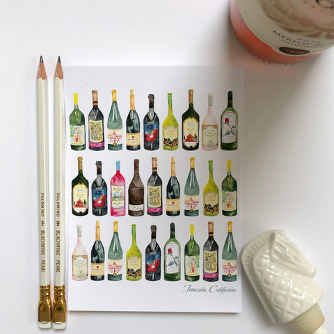 Cheers! Wine Bottle Postcards