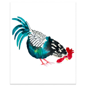 Rooster Animal Art Print