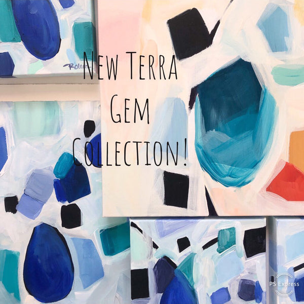 Blue Topaz Terra Gem Original Art