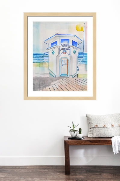 Laguna Beach Lifeguard Tower Print