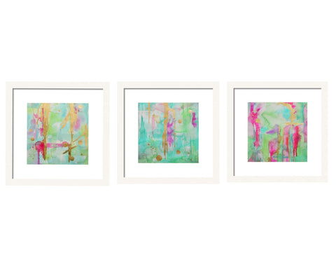 Mint Abstract Gallery Wall Sets