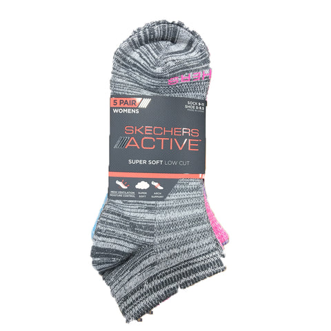 5 PACK SKECHERS WOMEN SUPER SOCKS SOFT LOW CUT SOCKS