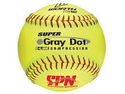 WORTH YS40RSS3 SUPER GREY DOT SOFTBALL BALL