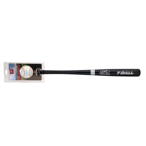 RAWLINGS T-BALL WOOD BAT WITH TRAINING BALL