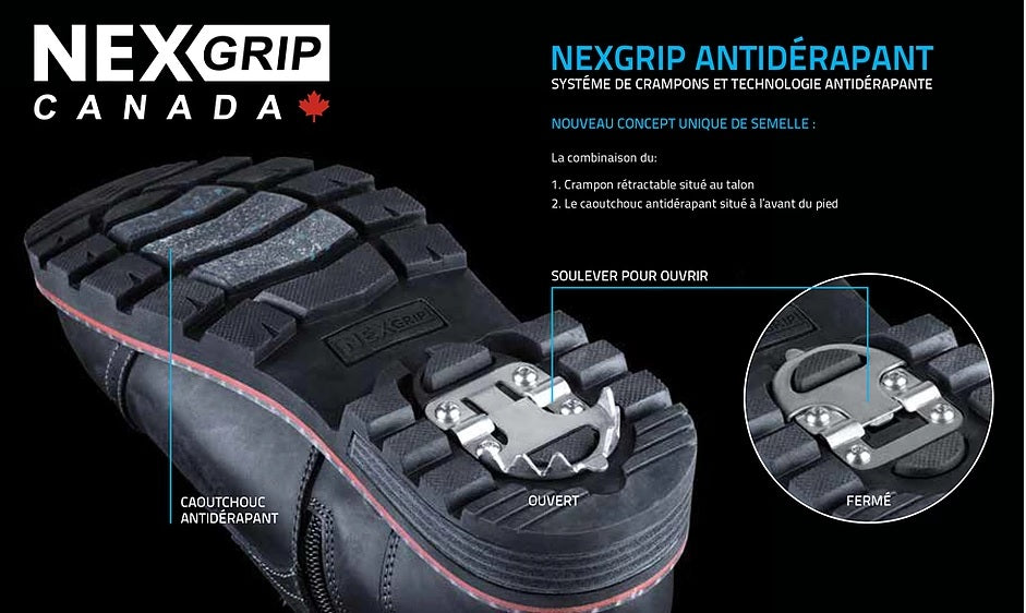 BOTTE NEXGRIP CRAMPONS ICE FLINT 3 HOMME