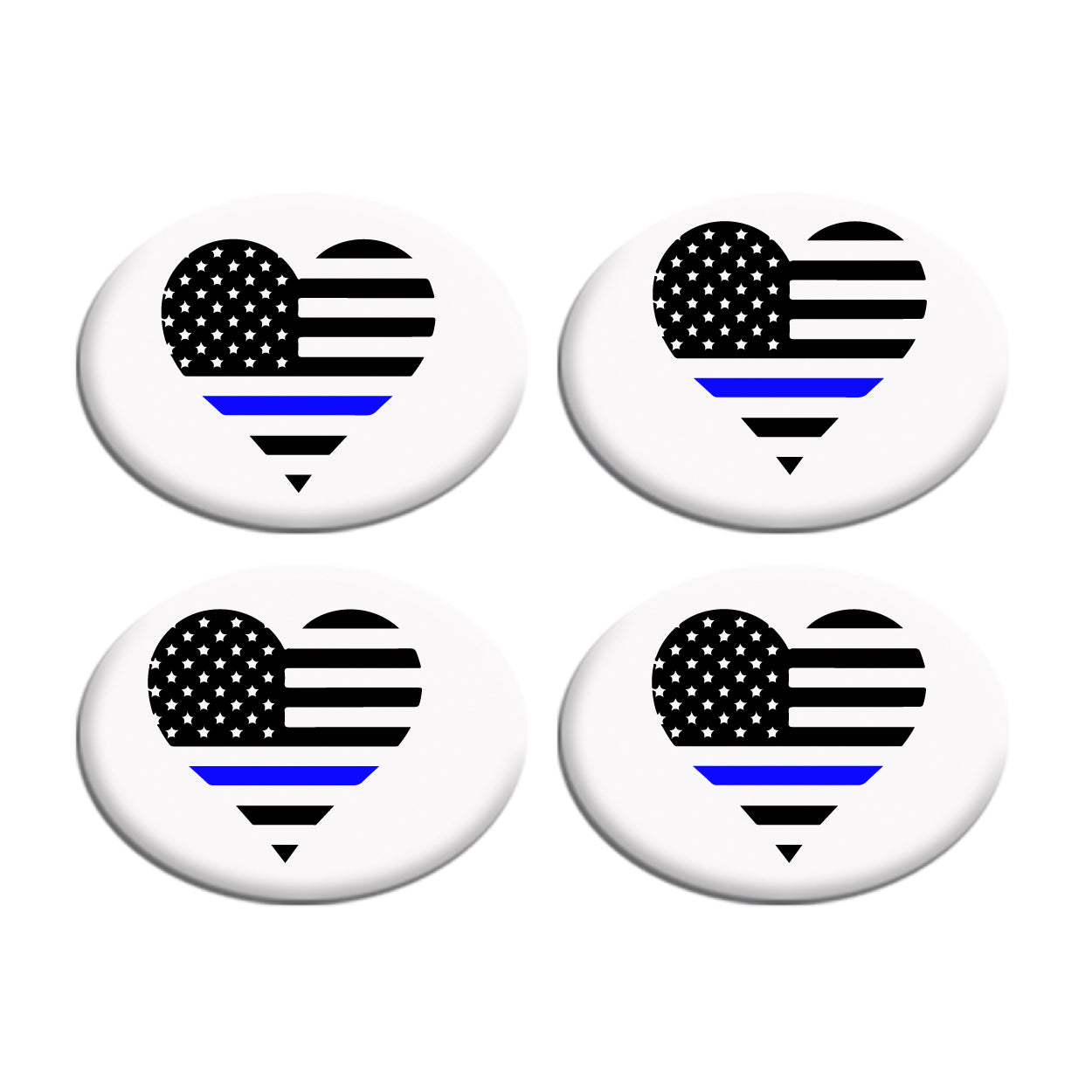 Flag Heart Thin Blue Line