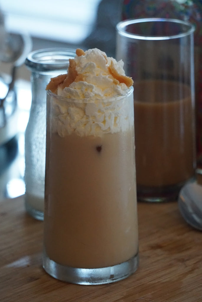 How to Use Holiday Booze: Iced Almond Dulce Latte