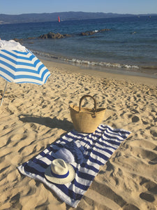 corsica outfit. straw basket with handles