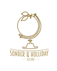 Sonder & Holliday, Orange Globe Logo- for Sustainable, Eco Friendly Luxury Resort