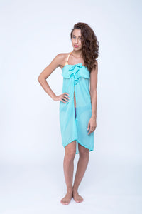 Multi-way chiffon cover up, swim dress, beach dress