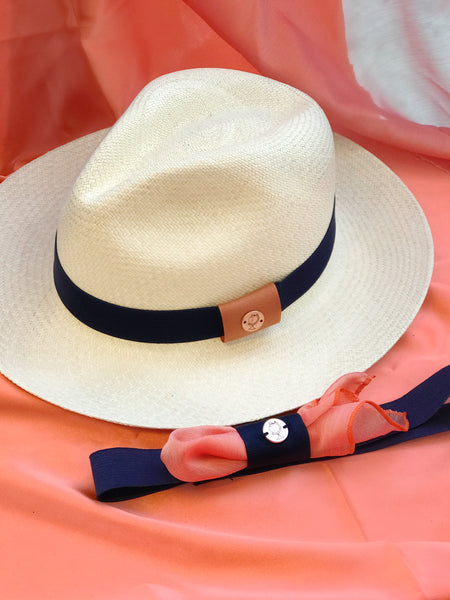 panama hat bands in blue navy. hat bands, hat bands for western, hat bands for fedora