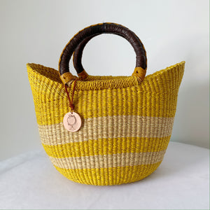 Sample Sale- Unico Small No. 3 Mustard with Dark Brown Handles