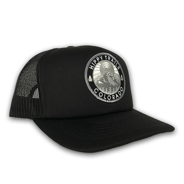Black Foam Mountain Patch Snapback