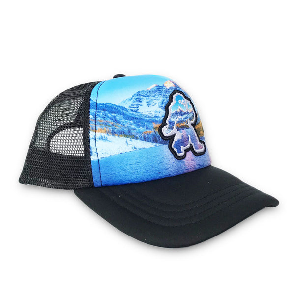 Blue Maroon Bells Foam Trucker