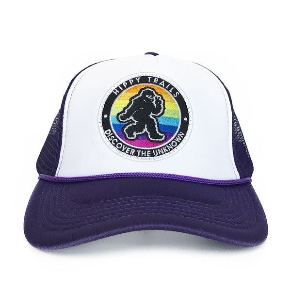 Purple and White Original Trucker