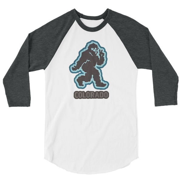 Grey/White Colorado Yeti Baseball Tee