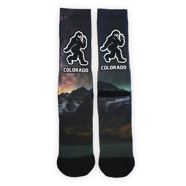 Yeti Maroon Bells Night Sky Socks