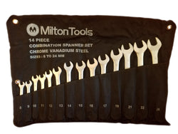 Milton 14pc Combination Chrome Vanadium Spanner Set