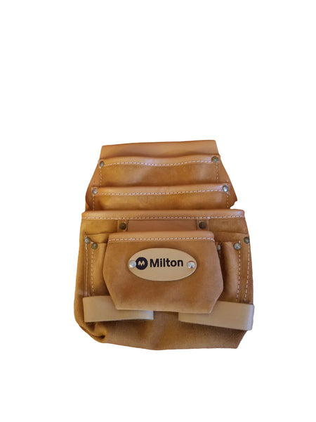 Milton 8 Pocket Single Two Tone Leather Tool Pouch (No Belt)