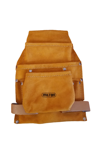 Milton 9 Pocket Leather Oil Tan Tool Pouch (No Belt)