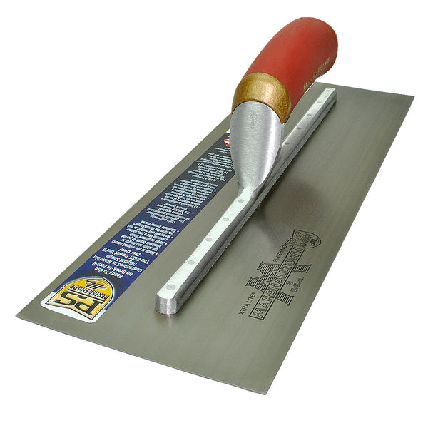 "Marshalltown 14 x 5"" Carbon Steel Blade Finishing Trowel PermaShape MPB145D"