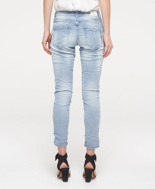 Cross Stitch Boyfriend Jeans Blue