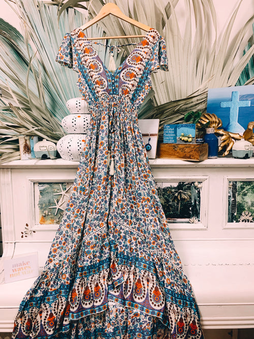 Gypsy Queen Dress - Azure