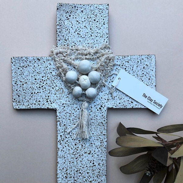 Goddess Clay Cross - White Speckle