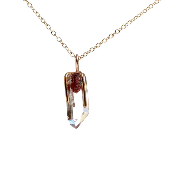 Ghost Quartz Point Necklace