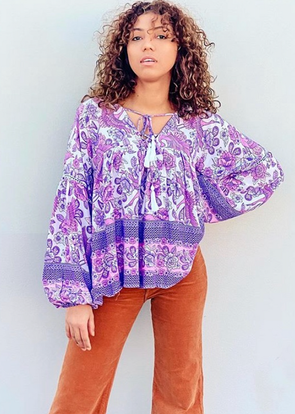 Peace blouse - Songbird Lilac