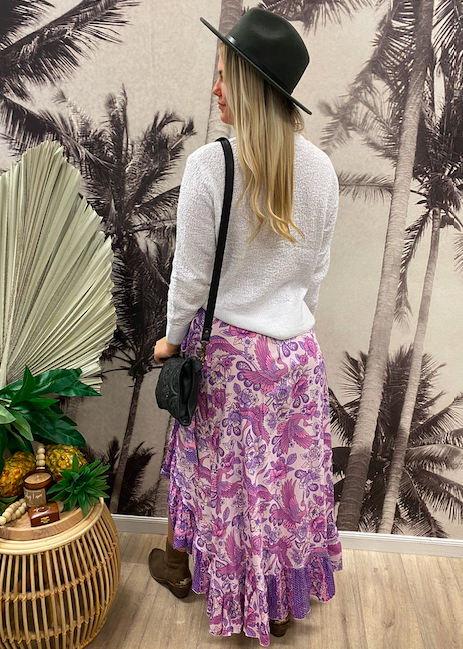 Songbird Lilac Maxi Wrap Skirt