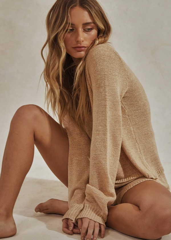 Celeste Knit Set - Long Sleeve Knit/Short