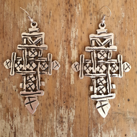 Turkish Cross Earring