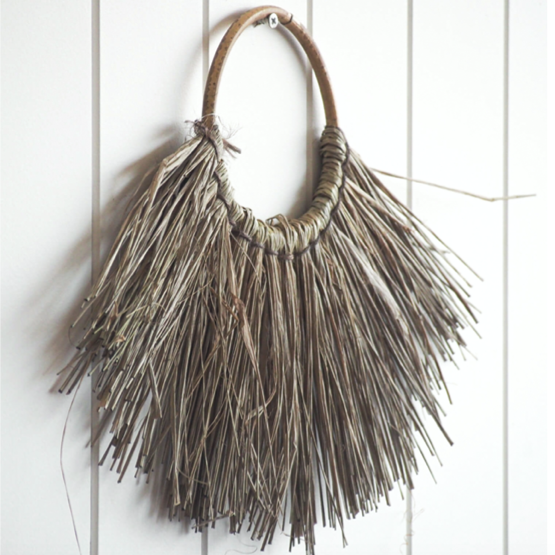 Small Elm Wall Hanging - Light Taupe