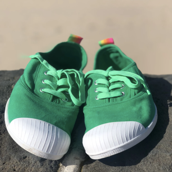Green Canvas Sneakers
